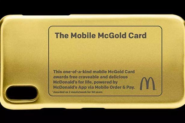 9ea7c2af0c08 24金のマクドナルド・ゴールドカード爆誕!手に入れた人は50年無料でマックで食べ放題!